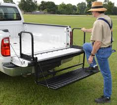 100 Truck Tailgate Steps Bed Extender And Step Combo TNB3000MB With High Grab New