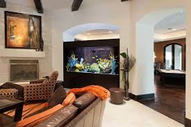 Living Room With Leather Sofa And Saltwater Aquarium - Fresh ... Home Designs Built In Aquarium 4 Homes With Design Focused On Living Room Modern Style For L Tremendous Then Fish Tank Decorations Interior Stunning Ideas Images Best Idea Home Design Cuisine Amazing Decor Gallery Wonderful Bedroom 20 For House Goadesigncom Aquariums Refresh With Different Tropical Vibe Kitchen Decoration Cool The Divine Renovation 35 Youtube Rousing Channel Designsfor Tv Desing Bar Stools Counter Pictures On Wall