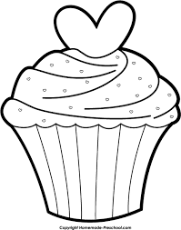 Cake black and white cup cake clipart black and white