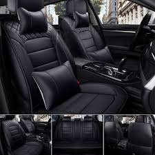 100 Car Seat In Truck Details About US Black PU Leather Cover 5s SUV FrontRear Cushion Full Set
