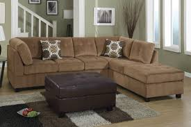 Microfiber Sofas And Sectionals by Furniture Home Brown Microfiber Sectional Sofa 81 With Brown