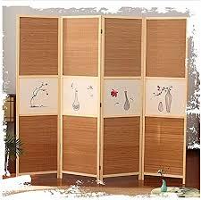 yiqifei raumteiler panel bildschirme 4 panel bambus
