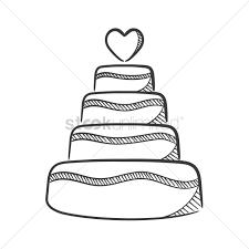 wedding cake vector graphic