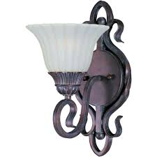maxim lighting via roma 1 light wall sconce 2786svgb the home depot