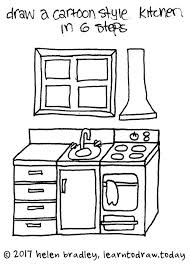 How To Draw A Cartoon Kitchen In 6 Steps