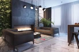 vertikaler garten wohnzimmer industrial stil schwarz
