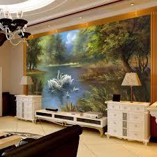 Custom 3D Wall Mural Wallpaper Roll Romantic Swan Living Room Bedroom TV Background Home Decor Non