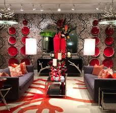 dekoideen wohnzimmer in rot und moderne wandgestaltung mit