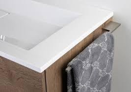 handtuchhalter für badmöbel in edelstahl matt design badetuchstange