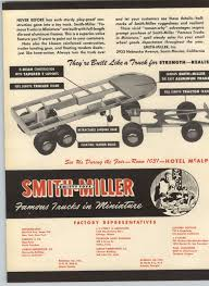 100 Smith Miller Trucks 1948 PAPER AD 4 PG Toy PIE Trailer Lyon Van