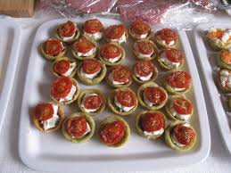 berry canapes mozzarella pesto and cherry tomato tartlets from berry and