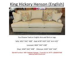 Smith Brothers Sofa 393 by King Hickory Henson Sofa English Arm Turned Leg You Choose The