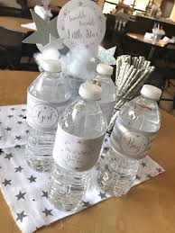 Beverage Table From A Rustic Twinkle Star Gender Reveal Baby Shower On KARAS PARTY IDEAS
