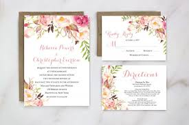 Wedding Invitations For Outdoor Spring Invitation Floral Invite Garden Weddi With Vintage