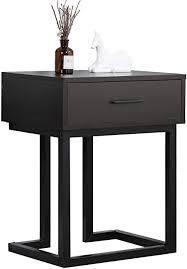 dlandhome 45 34cm kleiner konsolentisch nachttisch mit schublade beistelltisch für wohnzimmer schlafzimmer schwarz