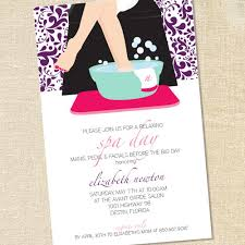 Sweet Wishes Spa Day Pedicure Party Invitations Printed Arbonne