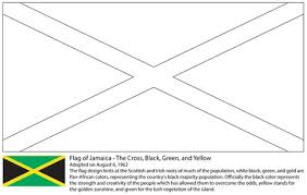 Click To See Printable Version Of Flag Jamaica Coloring Page