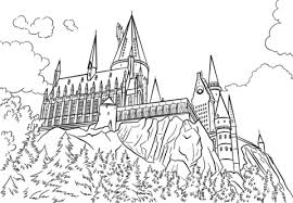 Click To See Printable Version Of Hogwarts Castle Coloring Page