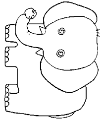 Simple Elephant Outline Coloring Page