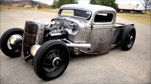 1935 1936 FORD PICKUP TRUCK SCTA BARE BONES / BARE METAL HOT ROD RAT ...