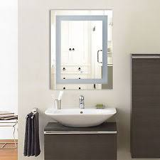 lighted wall mounted bathroom mirrors ebay