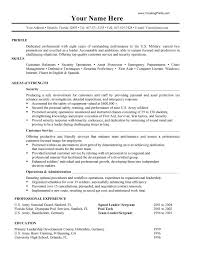 Military Resume Templ To Civilian Examples On