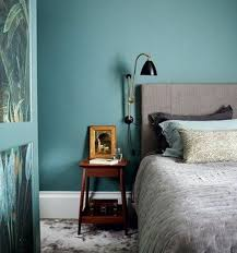 d馗o chambre bleu canard peinture murale deco bleu canard pour les murs table de