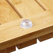 relaxdays bambusmatte für badezimmer feuchtigkeitsbeständig fußmatte 40x65 cm
