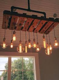 Metal Mason Jars Pipe Chandelier