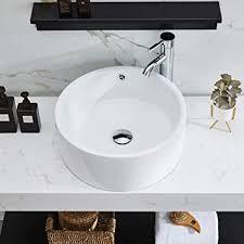 petushouse badezimmer gefäß waschbecken und pop up ablauf kombination rund über der theke weißes porzellan keramik badgefäß