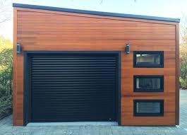 104 Contemporary Cedar Siding Urban Garage Garages 20x20ft