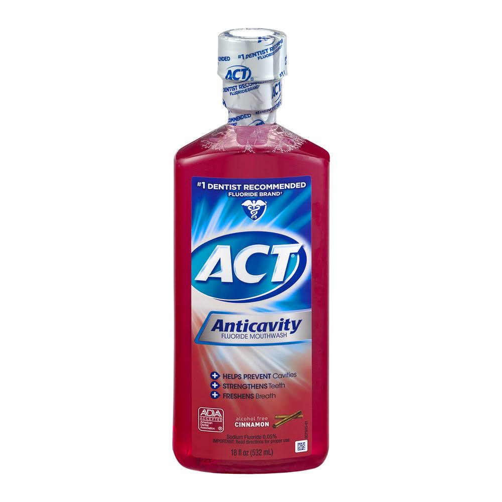 Act Anticavity Fluoride Rinse - Cinnamon, 532ml