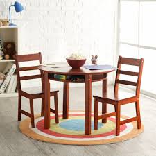 Kidkraft Star Childrens Table Chair Set by Lipper Childrens Walnut Round Table And 4 Chairs Hayneedle