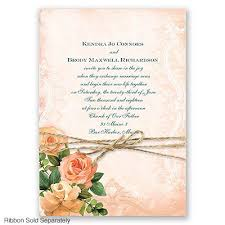 Start Your Wedding Story With This Two Sided Invitation Lush Roses Surround The