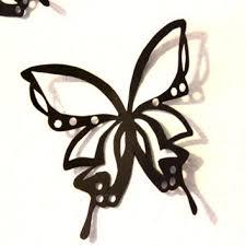 Black Butterflies Large Paper Butterfly Wall Art Nursery Home