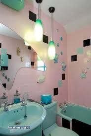Gray And Aqua Bathroom by 46 Best 1950s Art Moderne Pink And Gray Bathroom Images On