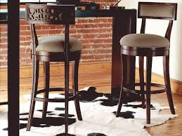 Caracole Classic Brown Swivel Bar Stool