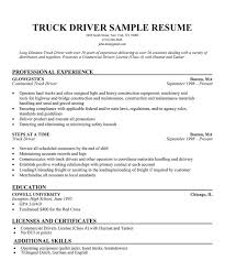 Gallery Of Truck Driver Resume Sample Luxury 19 Driving