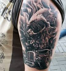 Mens Muscle Car Tattoo On Arm