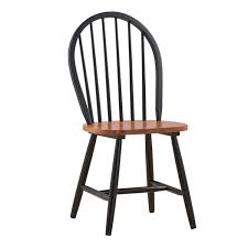 Boraam Farmhouse Chair, Black/Cherry, Set Of 2