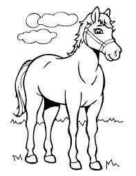 Cartoon Horse Coloring Page