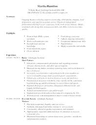 Resume Examples Server Food Service Sample