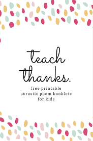 Halloween Acrostic Poem Ideas by Get These Printable Acrostic Poem Booklets And Teach Gratitude To