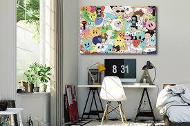 toile chambre toile déco pour chambre enfant coloré et joyeuse