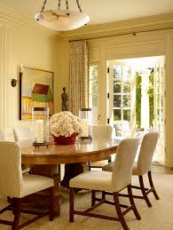 Chic Hurricane Candle Holders In Dining Room Traditional With Table Centerpiece Next To Curtains