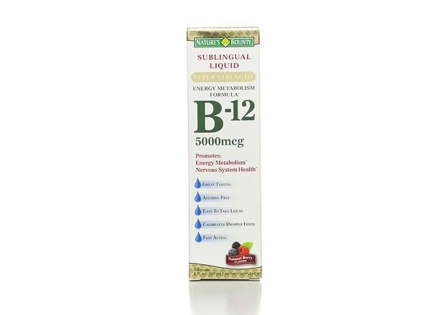 Nature's Bounty Super Strength B12 Sublingual Liquid - 2oz, Natural Berry Flavor