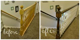 Two Points For Honesty: Refinishing Oak Stair Railings! Chic On A Shoestring Decorating How To Stain Stair Railings And Best 25 Refinish Staircase Ideas Pinterest Stairs Wrought Iron Stair Railing Iron Stpaint An Oak Banister The Shortcut Methodno Howtos Diy Rail Refishing Youtube Photo Gallery Cabinets Boise My Refinished Staircase A Nesters Nest Painted Railings By Chameleon Pating Slc Ut Railing Concept Ideas 16834 Of Barrier Basic Gate About