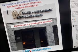 deutsches haus in gifhorn wehrt sich gegen afd werbung