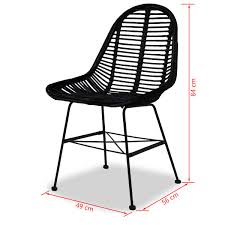Amazon.com - VidaXL 2X Dining Chair Natural Rattan Wicker ...
