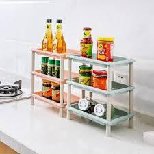 High Quality DIY three layers plastic Storage racks bathroom shelf